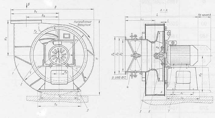 Дутьевой вентилятор ВДН – 11,2